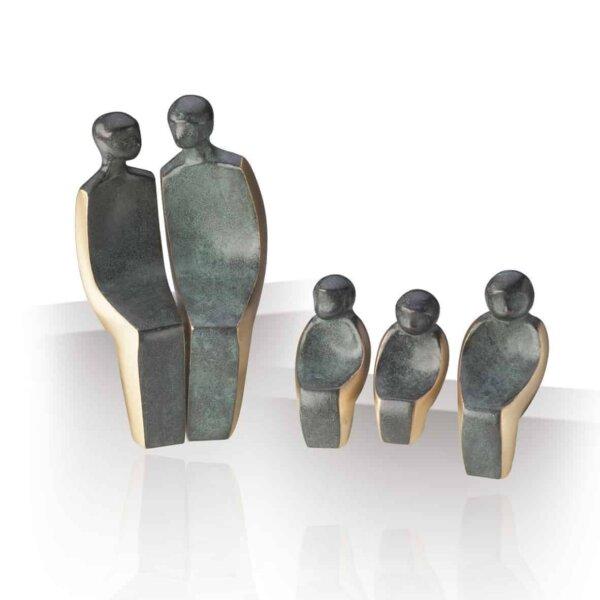 """Bronzefigur """"Familie på 5"""""""