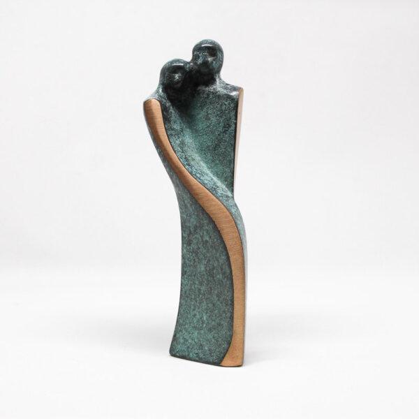 """Bronzeskulptur """"Hengivenhed"""""""